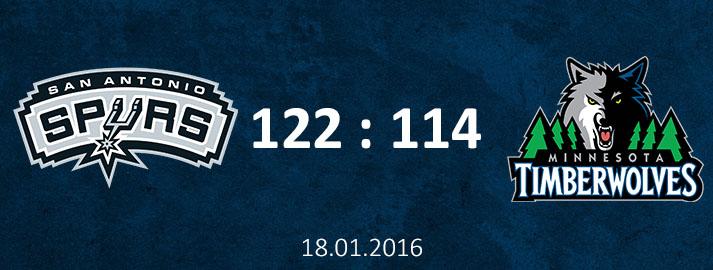 18.01.2016 San Antonio Spurs vs Minnesota Timberwolves spēles apskats