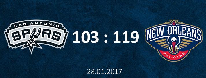 28.01.2016 San Antonio Spurs Dāvja Bertāna spilgtākie momenti pret Ņūorleānas Pelicans