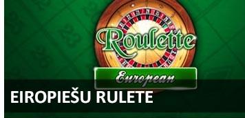 Eiropiešu rulete BEZMAKSAS RULETE spēlēt