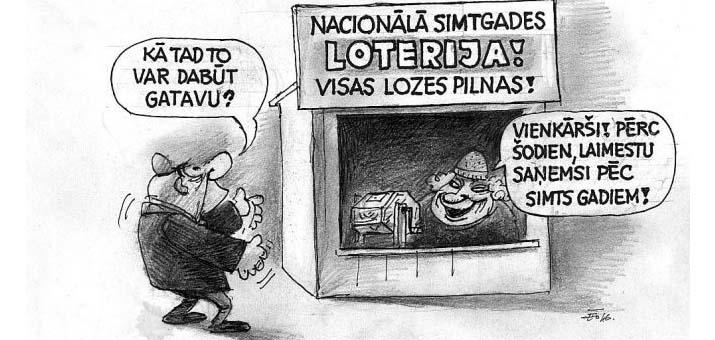 Latvijas Loto Simtgades loterijas papildspēle rezultati