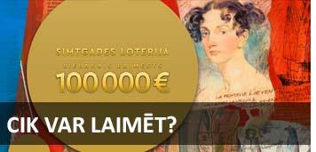 cik var laimēt simtgades loterijā
