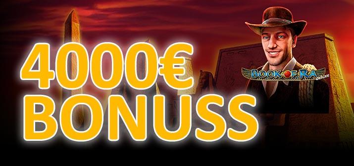 4000€ bonuss spēlē Book of Ra no optibet