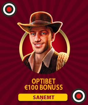 optibet kazino bonuss 100€ un 50 bezriska griezieni