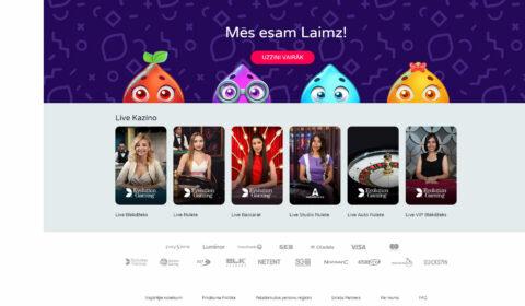 laimz online kazino main